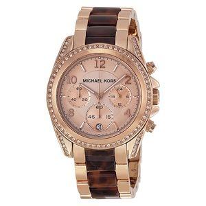 Michael Kors Tortoise Shell Rose Gold Watch